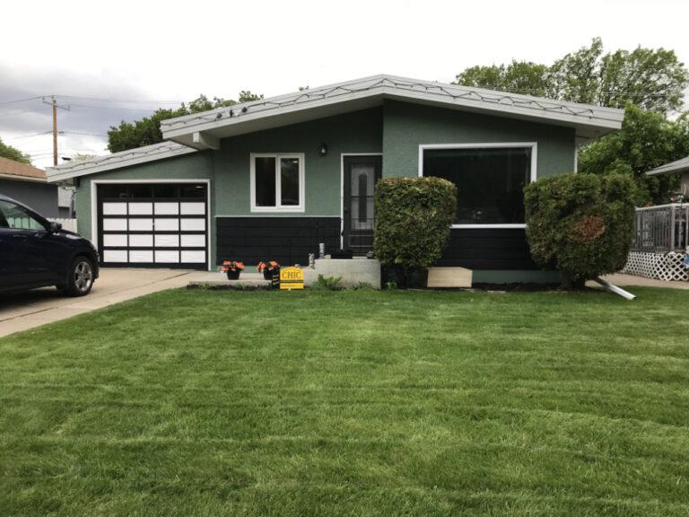 dark green stucco coating
